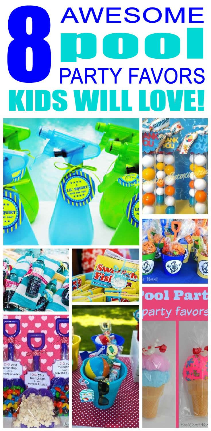 Pool Party Favors Ideas For Kids  Best 25 Pool Party Birthday ideas on Pinterest