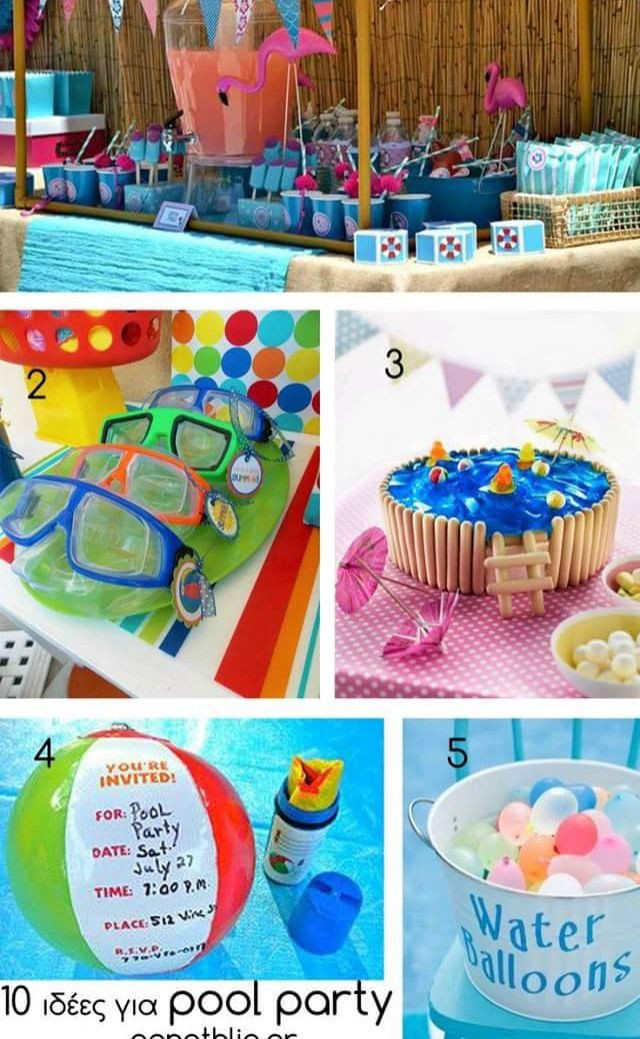 Pool Party Favors Ideas For Kids  Cute kids pool party idea Entertaining