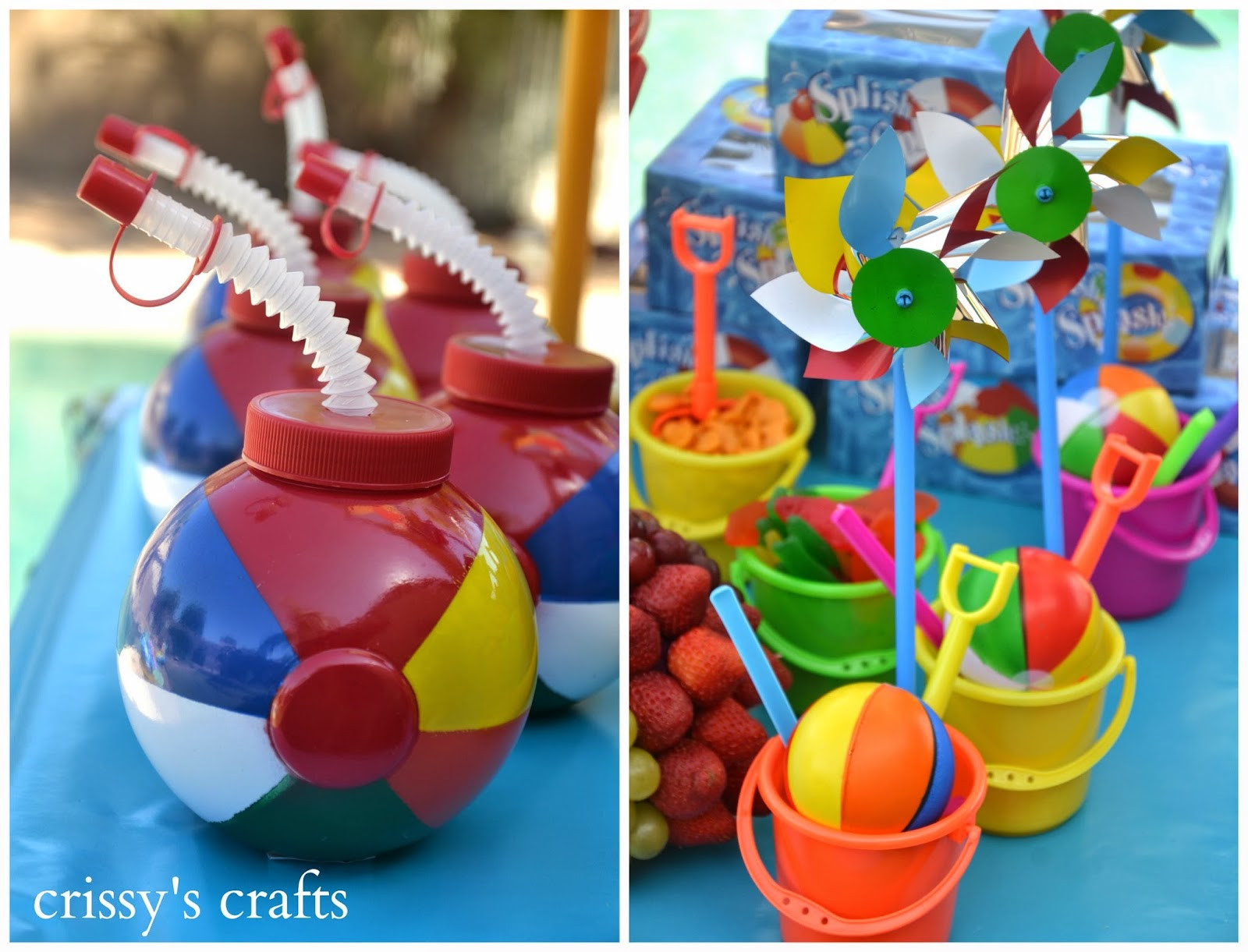 Pool Party Favors Ideas For Kids  Crissy s Crafts Pool Party Summer 2014