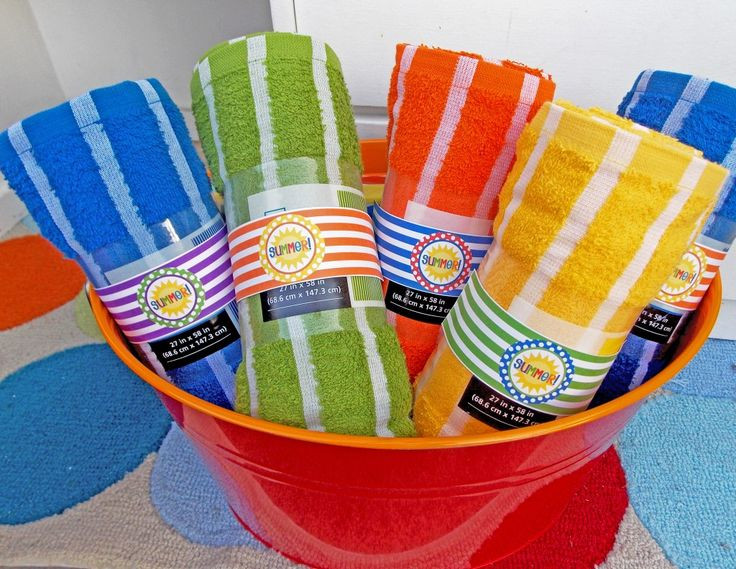 Pool Party Favors Ideas For Kids  could monogram towels for the kids as favors