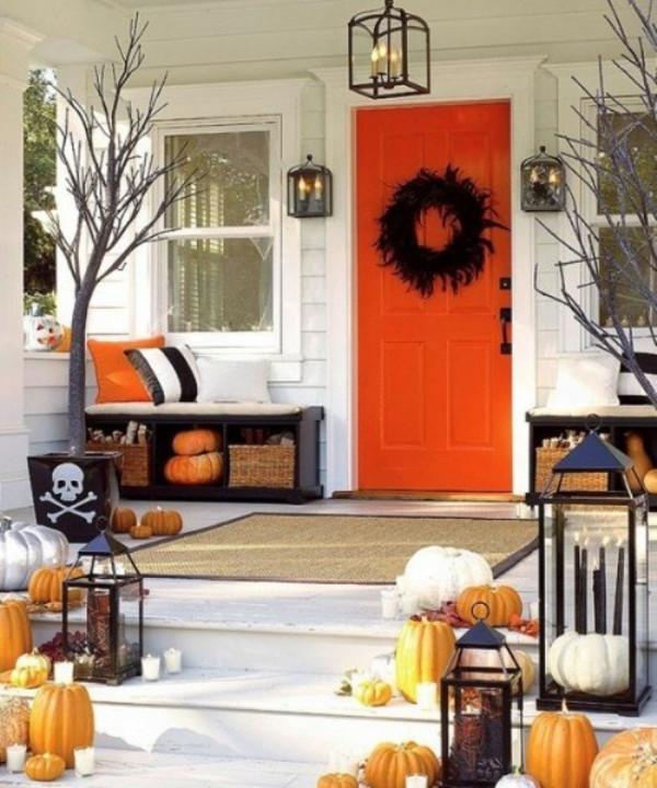 Porch Decorated For Halloween  Halloween Outdoor Decor Ideas