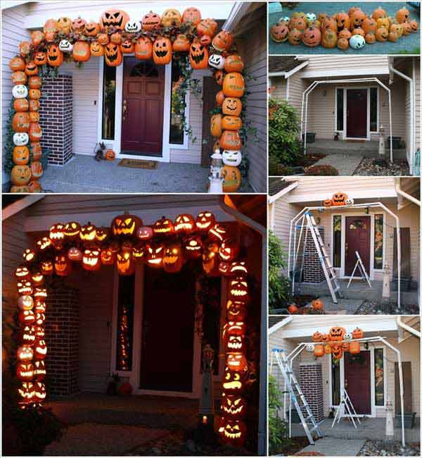 Porch Decorated For Halloween  11 Awesome Halloween Porch Decor Ideas Awesome 11