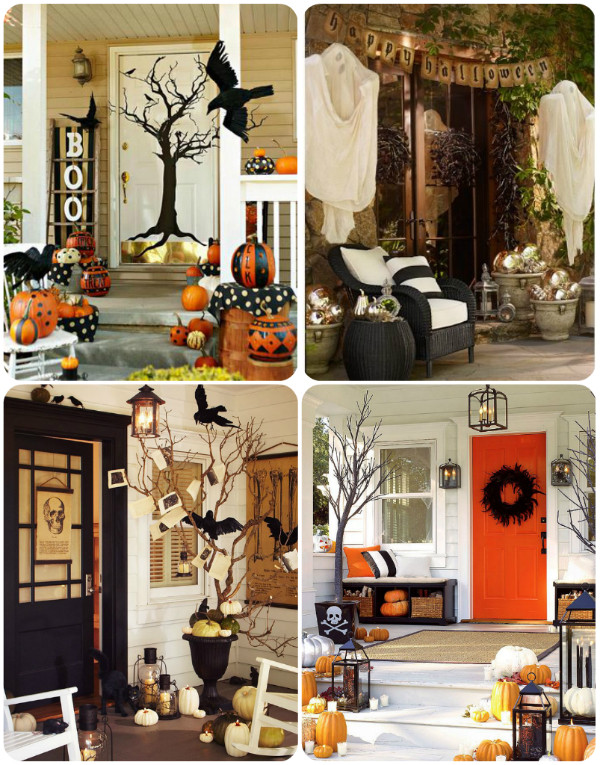 Porch Decorated For Halloween  Traditional Scary & Creepy Halloween Porch and Yard