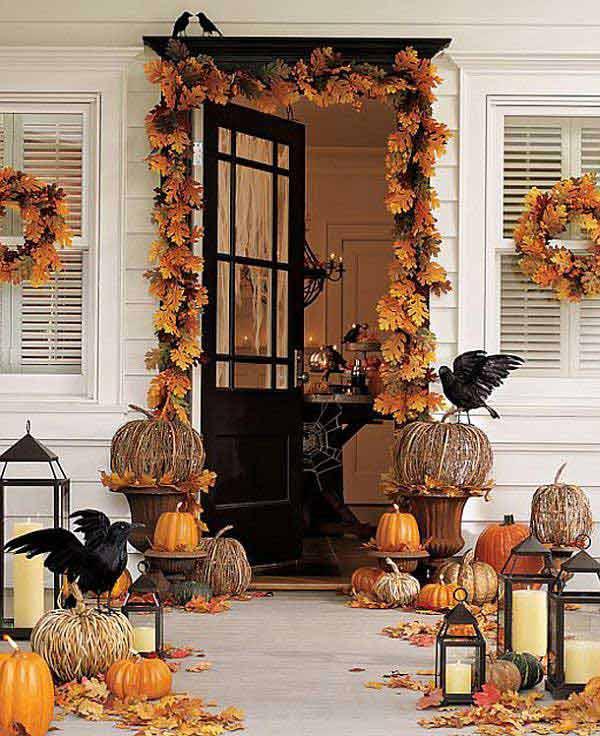 Porch Decorated For Halloween  Top 41 Inspiring Halloween Porch Décor Ideas
