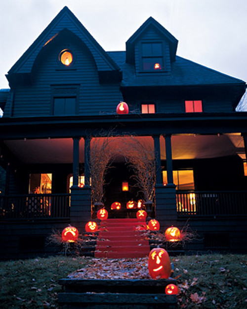 Porch Decorating For Halloween  Halloween Decorations