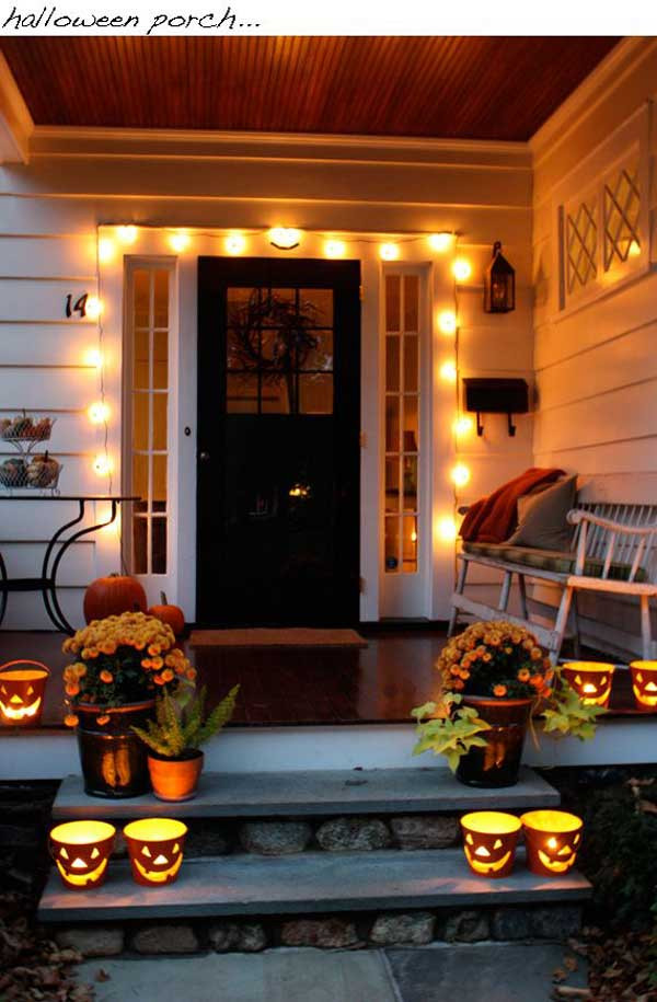 Porch Decorating For Halloween  Cute Halloween Front Porch Decorations to Greet Your Guests