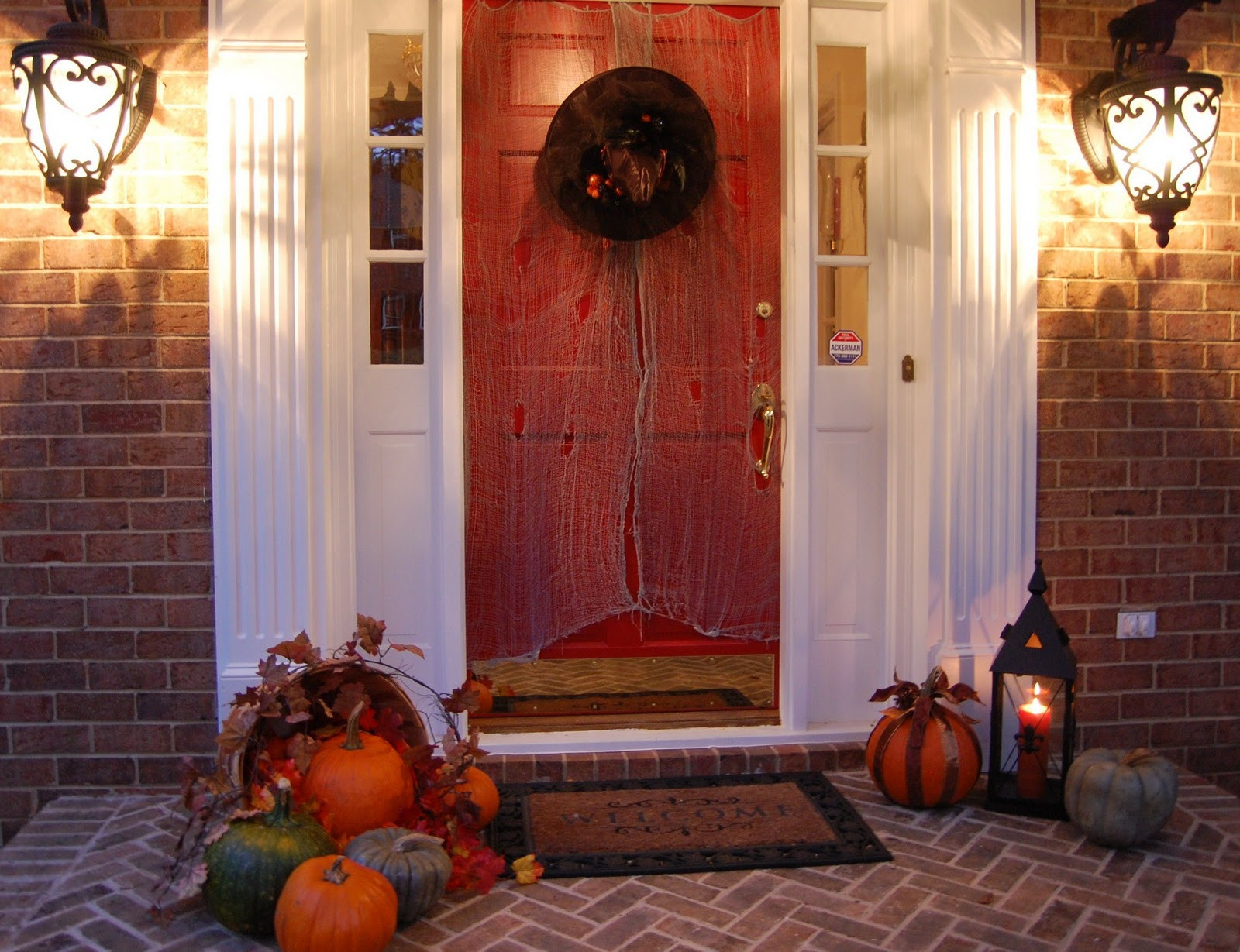 Porch Decorating For Halloween  Front Porch Decorated for Halloween