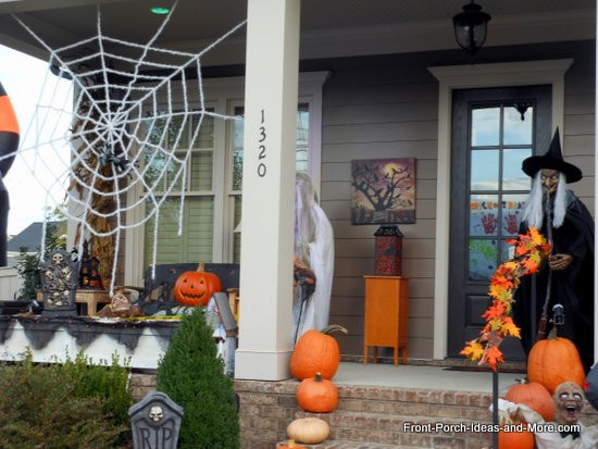 Porch Decorations For Halloween  Halloween Porch Decorating Ideas Both Spooky and Fun