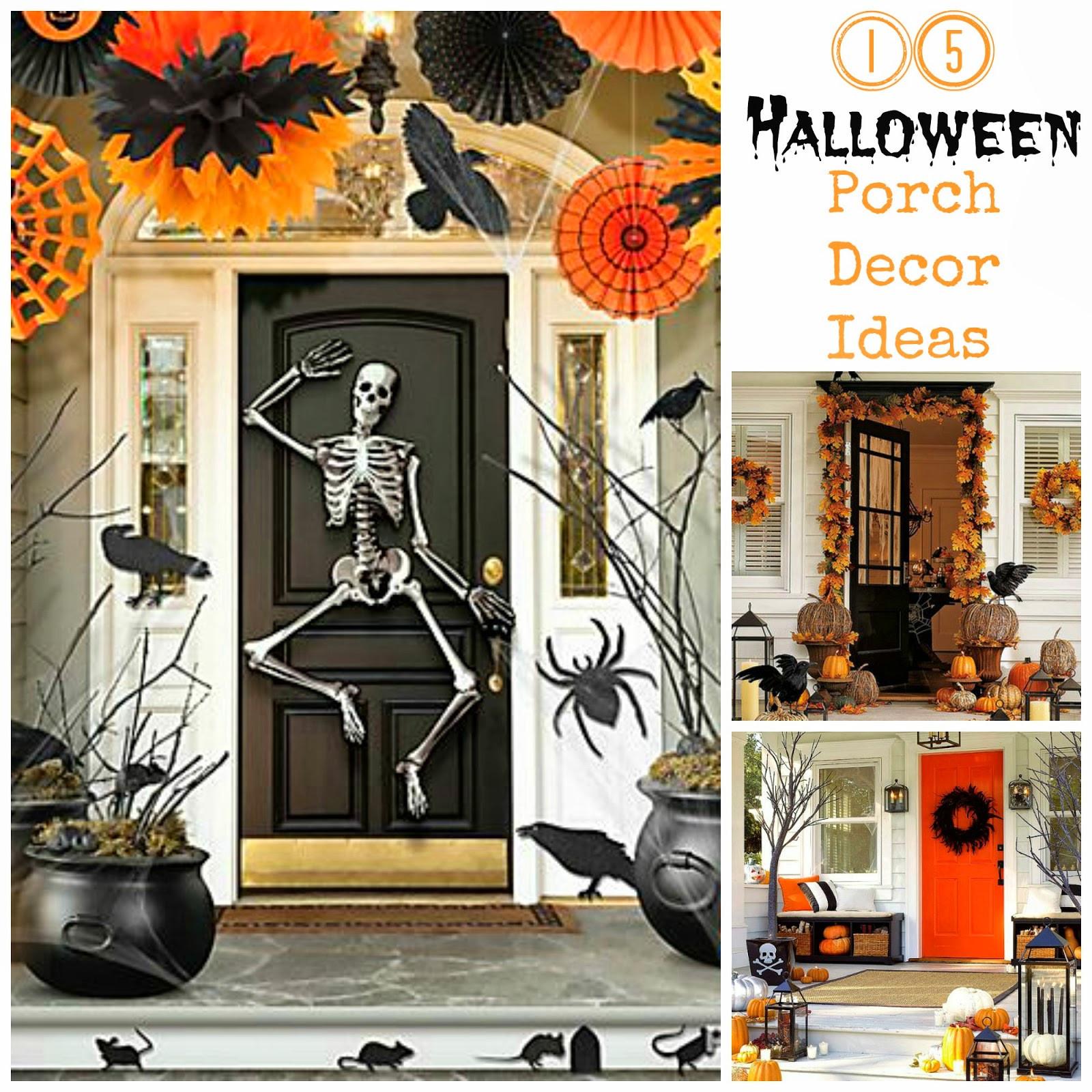 Porch Decorations For Halloween  15 Halloween Porch Decor Ideas I Dig Pinterest