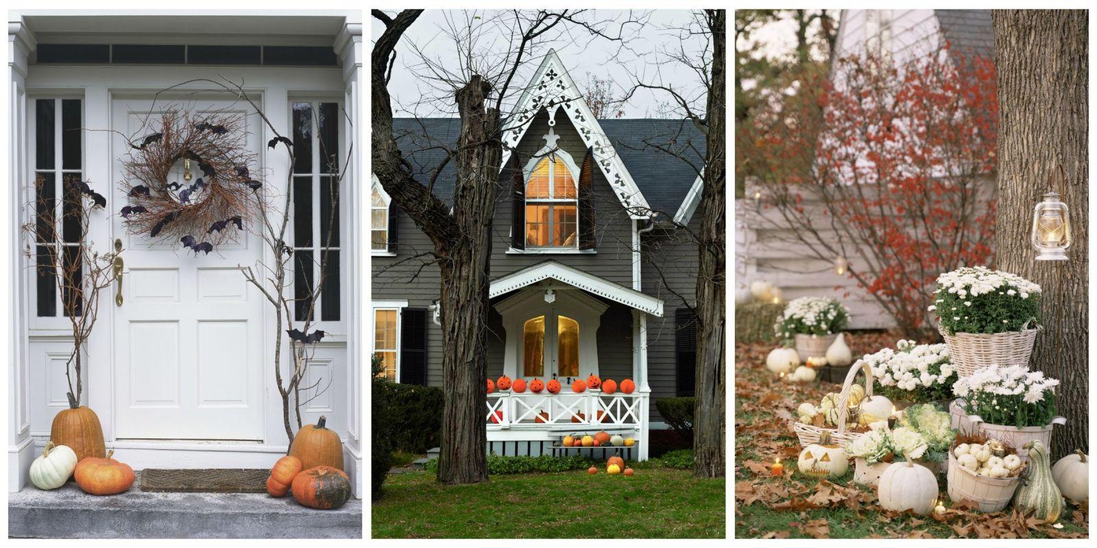 Porch Halloween Decor  30 Best Outdoor Halloween Decoration Ideas Easy