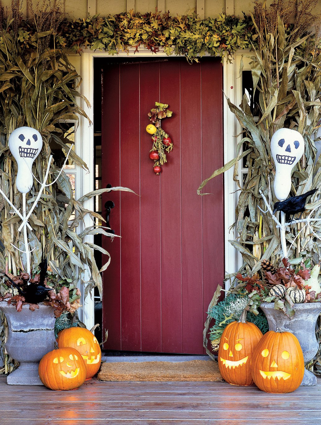 Porch Halloween Decor  Cute Halloween Front Porch Decorations to Greet Your Guests