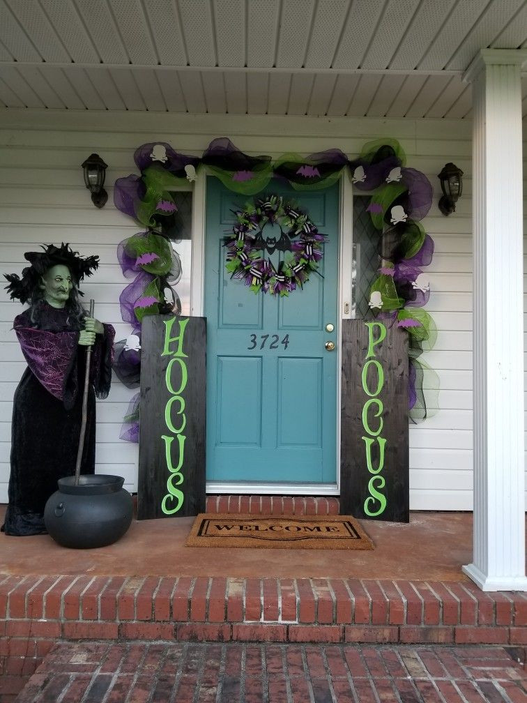 Porch Halloween Decor  Front porch fall decor Hocus Pocus witches Halloween in 2018