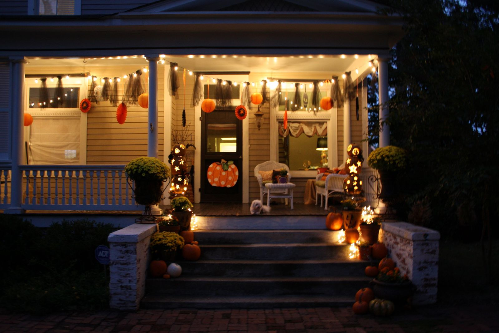 Porch Halloween Decor  halloween tradition