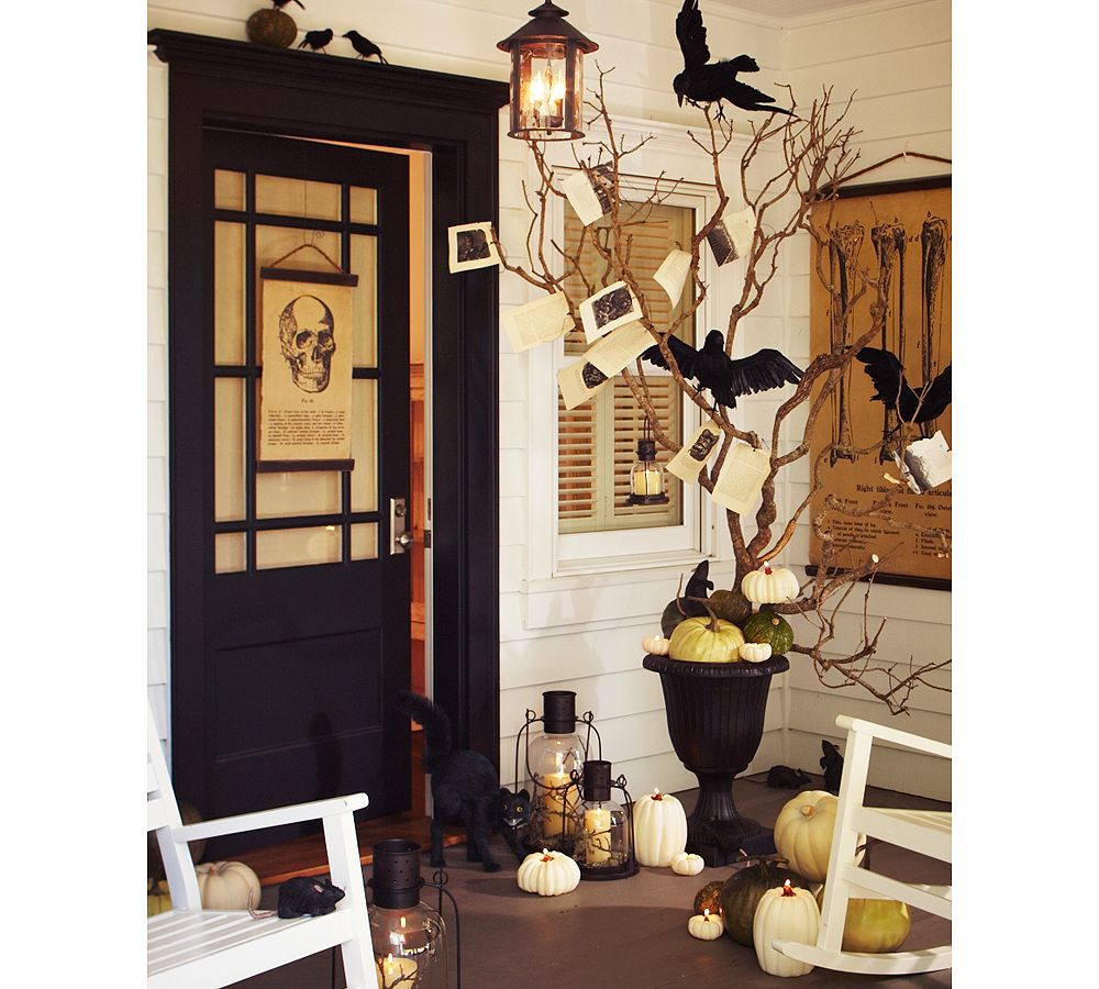 Porch Halloween Decorations  Maddycakes Muse More Halloween porches