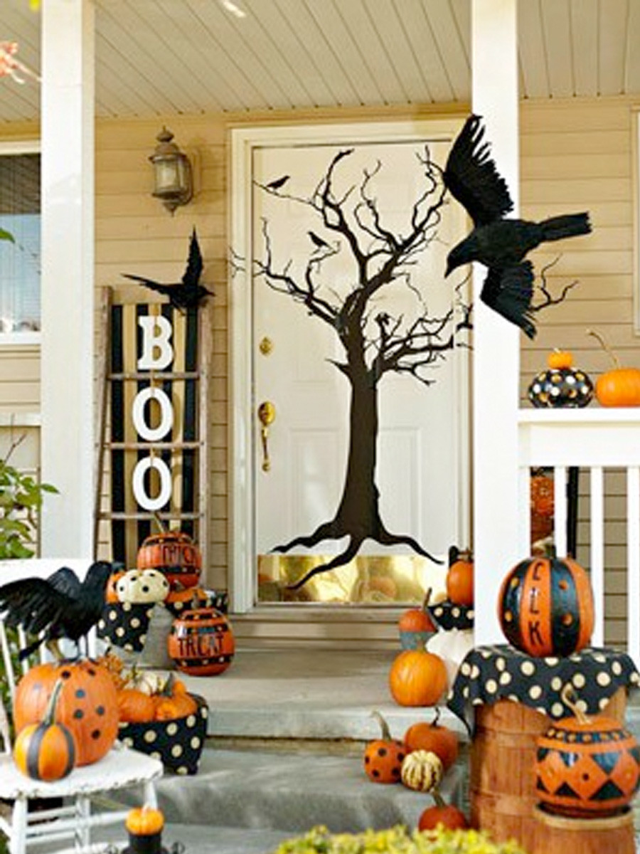 Porch Halloween Decorations  Paperlicious Girls Fabulous Fall