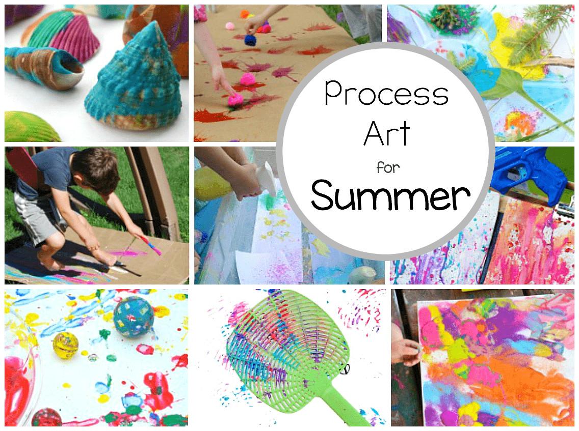 Preschoolers Art And Craft  Preschool Process Art Activities Perfect for Summer