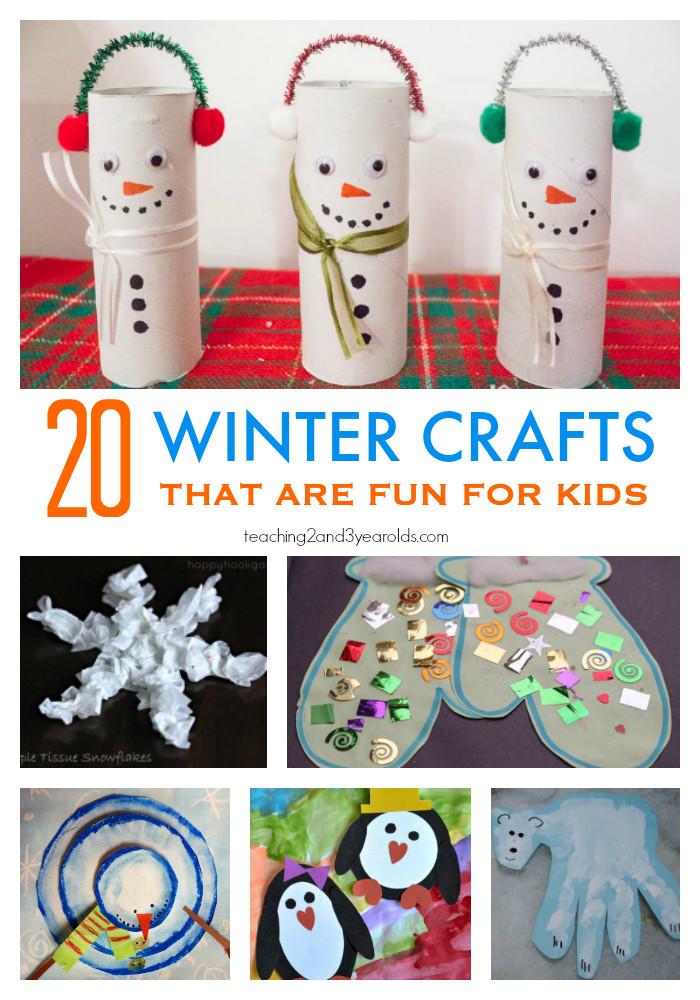 Preschoolers Art And Craft  20 Fun Winter Crafts for Preschoolers