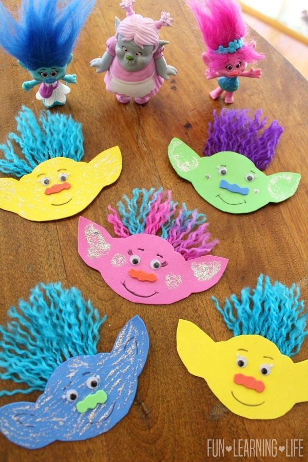 Preschoolers Art And Craft  How To Make A Troll Magnet and Get Interactive With Trolls