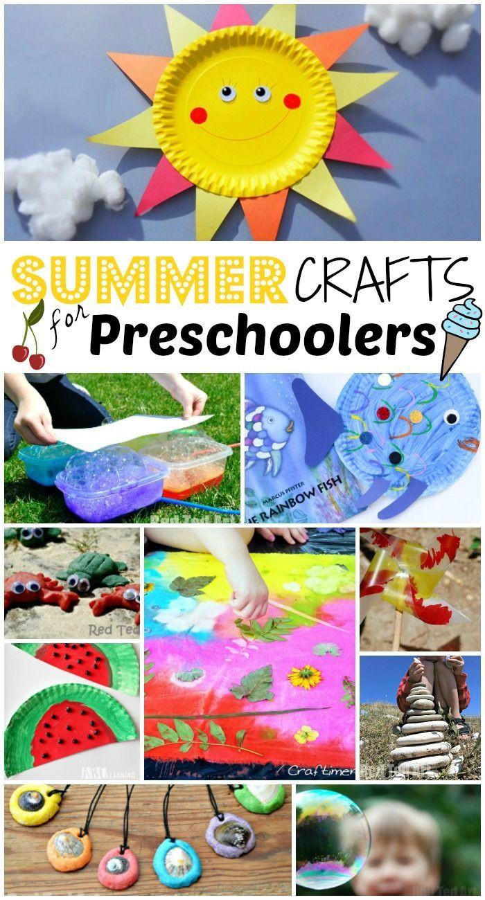 Preschoolers Art And Craft  47 Summer Crafts for Preschoolers to Make this Summer