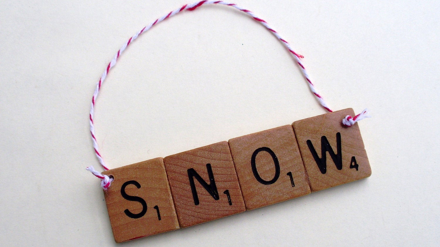 Scrabble Tile Christmas Ornaments  Snow Scrabble Tile Christmas Ornament