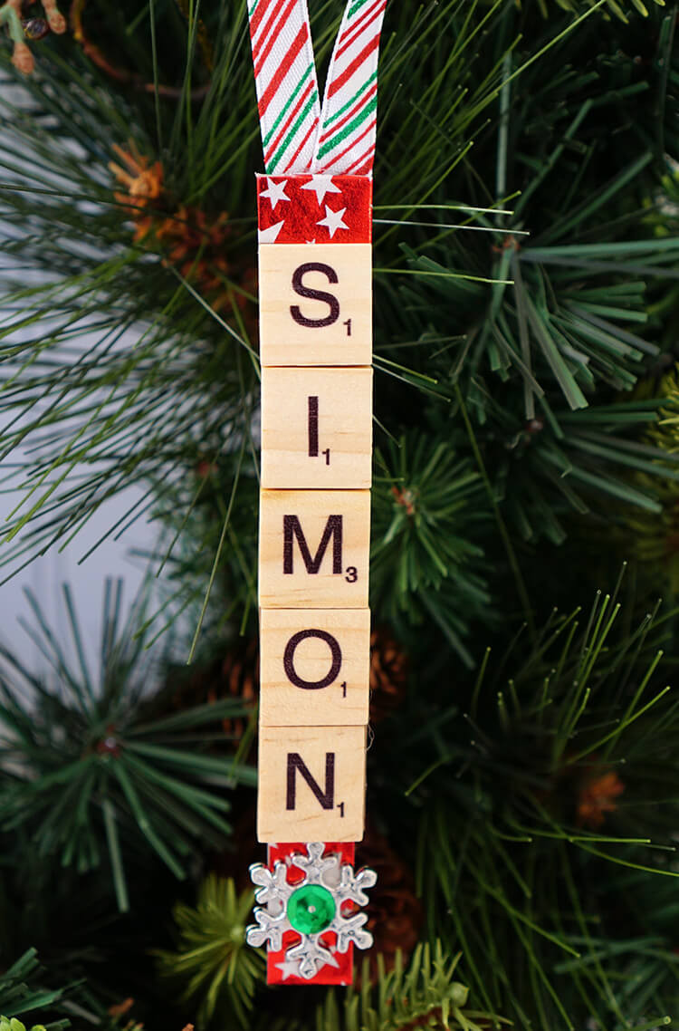 Scrabble Tile Christmas Ornaments  Personalized Scrabble Tile Christmas Ornaments Happiness