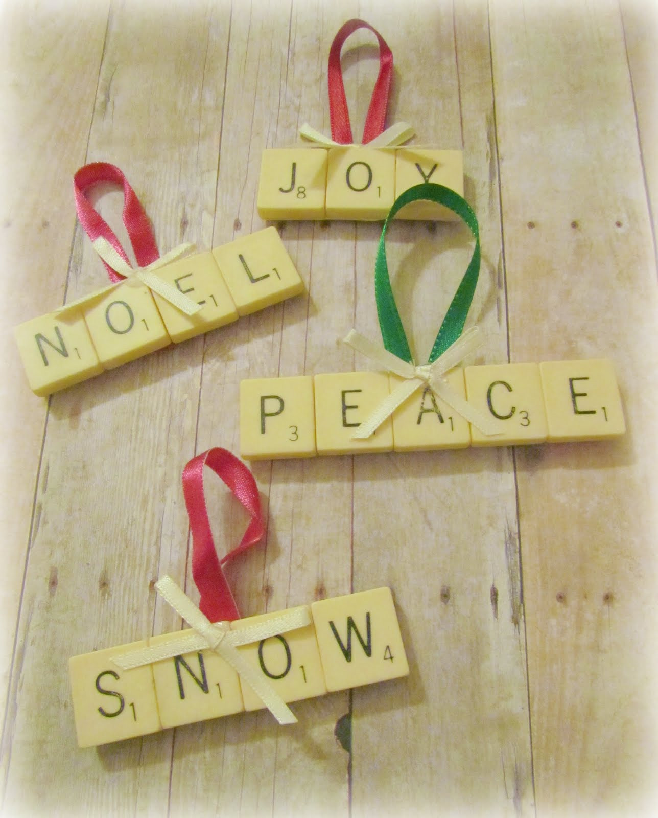 Scrabble Tile Christmas Ornaments  twobutterflies 30 Days For 30 Dollars Day 15 Scrabble