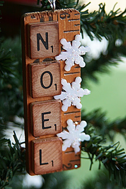 Scrabble Tile Christmas Ornaments  19 Upcycled Christmas Ornaments You can Make Yourself