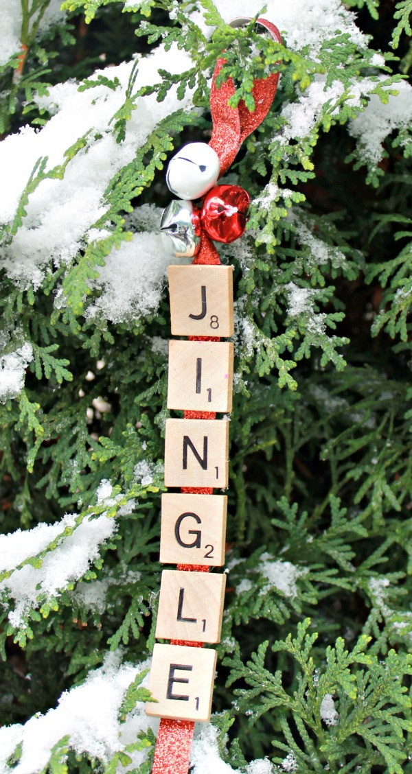 Scrabble Tile Christmas Ornaments  25 Fun DIYs Using Scrabble Pieces