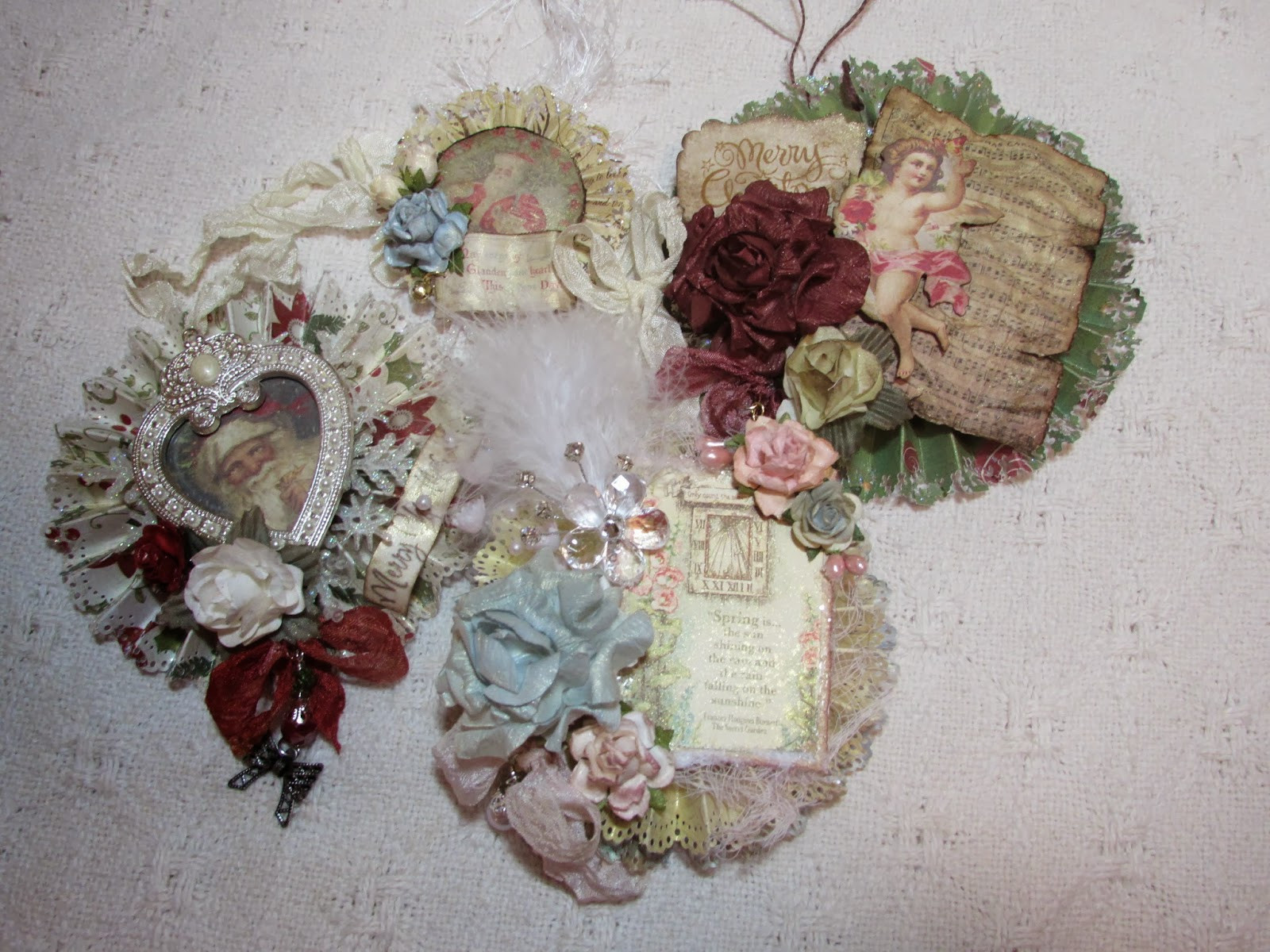 Shabby Chic Christmas Ornaments  TheTara148 Paper Christmas Ornaments and of course a