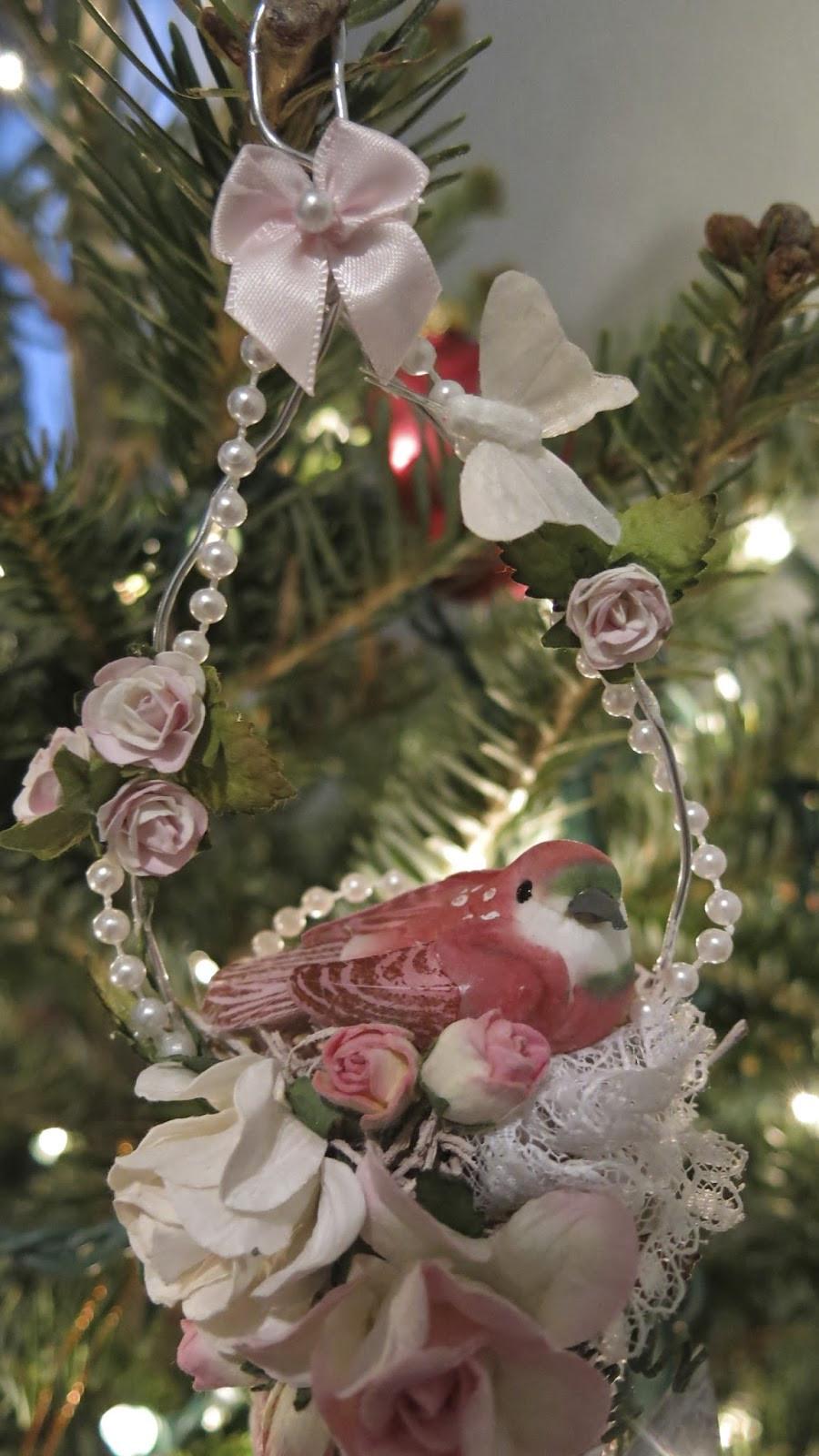 Shabby Chic Christmas Ornaments  Martica Designs Shabby Chic Christmas Spool Ornament