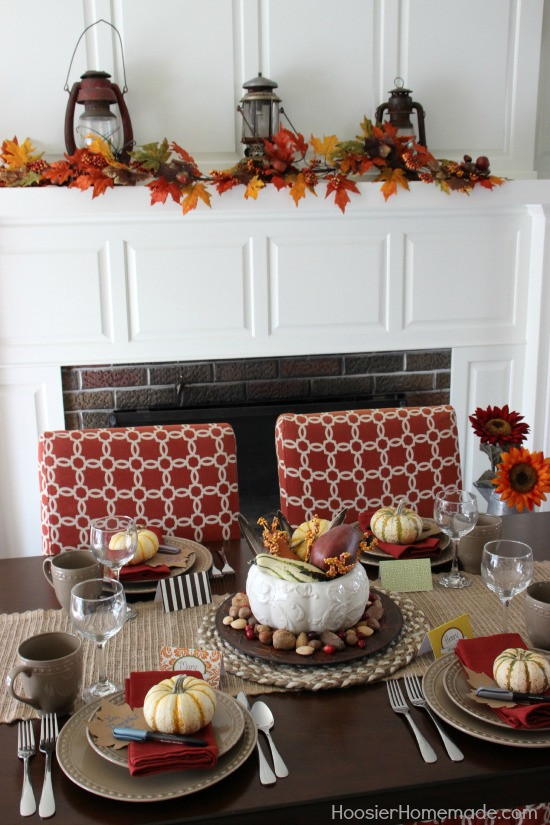 Simple Thanksgiving Table Decorations  Simple Thanksgiving Table Decoration Hoosier Homemade