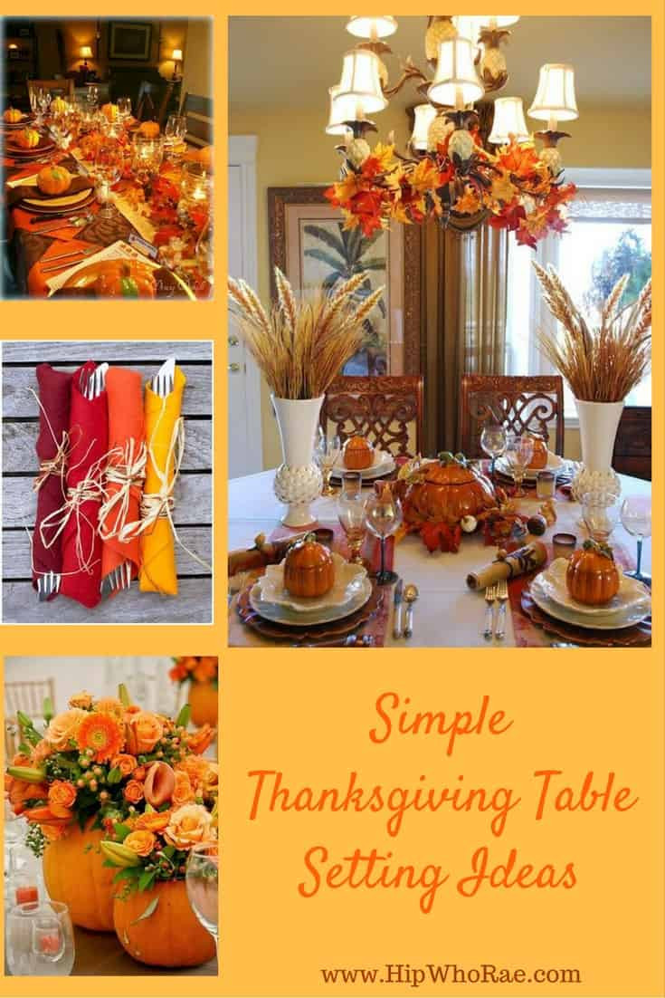 Simple Thanksgiving Table Decorations  Simple Thanksgiving Table Setting Ideas Hip Who Rae