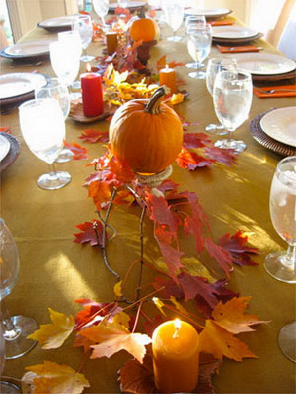 Simple Thanksgiving Table Decorations  Create Your Own Ambience Easy Thanksgiving Centerpieces
