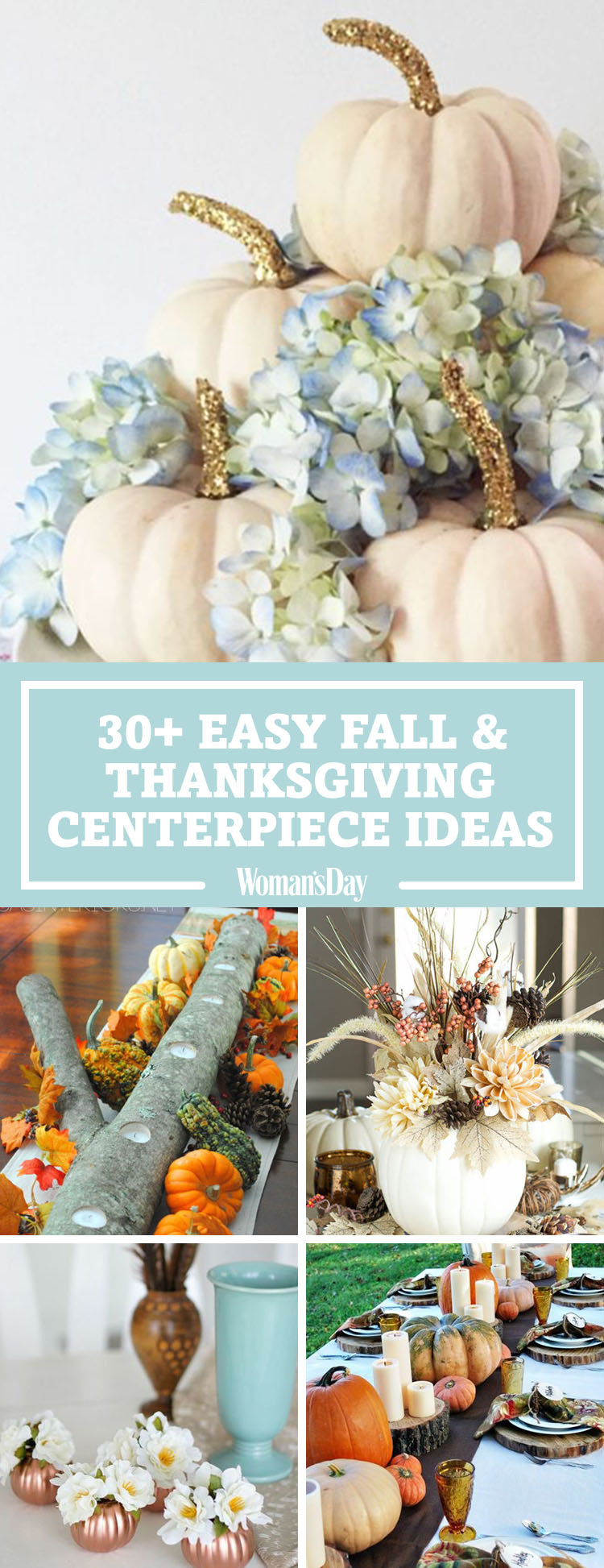 Simple Thanksgiving Table Decorations  40 Fall and Thanksgiving Centerpieces DIY Ideas for Fall