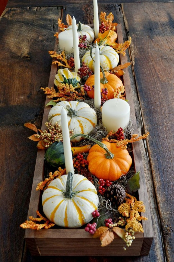 Simple Thanksgiving Table Decorations  Easy Fall Tablescape Ideas New House New Home
