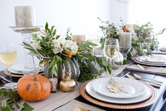 Simple Thanksgiving Table Decorations  Home family holiday guide to family holidays on the