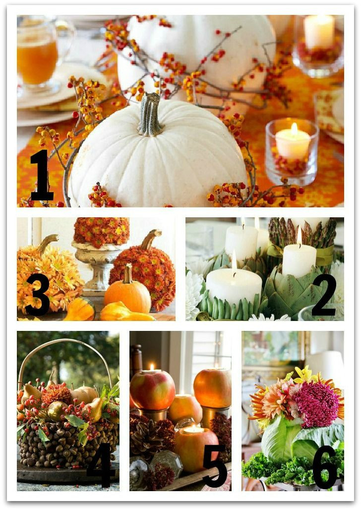 Simple Thanksgiving Table Decorations  Six Easy Thanksgiving Centerpiece Ideas
