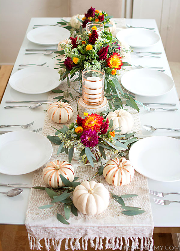 Simple Thanksgiving Table Decorations  Thanksgiving Tables & Fall Tablescape Inspiration