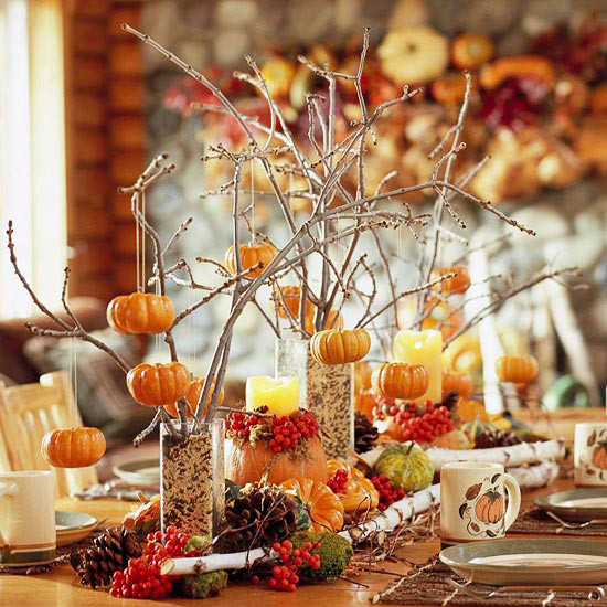 Simple Thanksgiving Table Decorations  Ideas for Easy Inexpensive & Crafty Table Decorations for