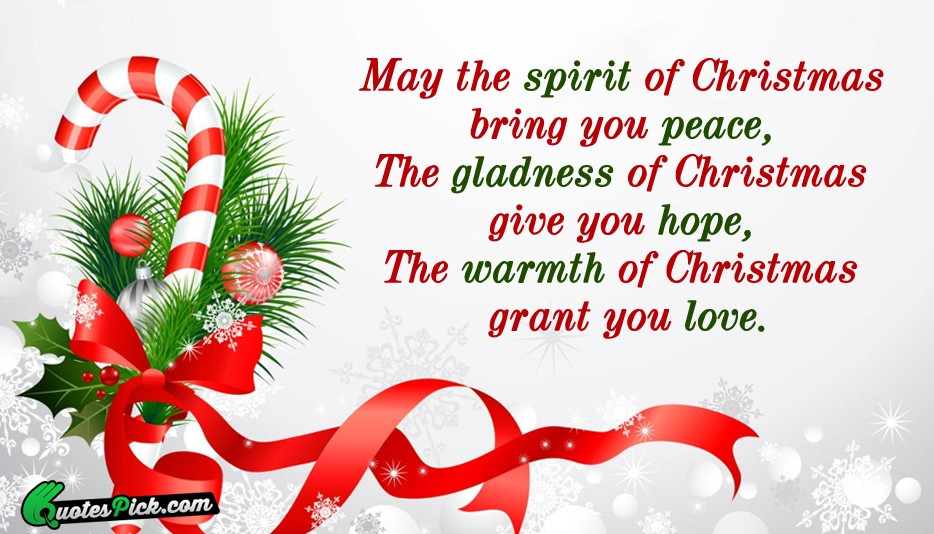 Spirit Of Christmas Quotes  May The Spirit Christmas Quote by Unknown Quotespick