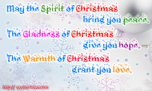 Spirit Of Christmas Quotes  To Give You Hope Quotes QuotesGram