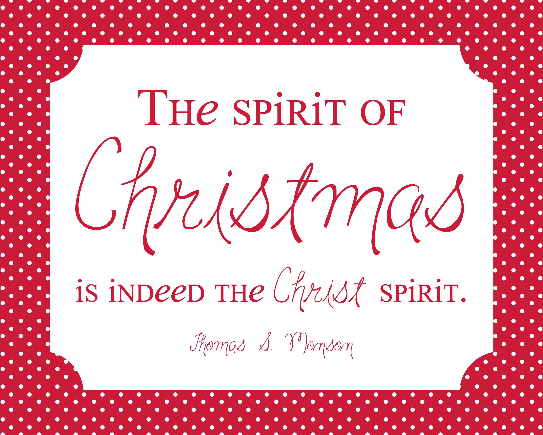 Spirit Of Christmas Quotes  Christmas Freebie Simply Fresh Designs
