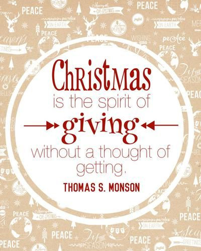 """Spirit Of Christmas Quotes  """"Christmas is the spirit of giving without a thought of"""