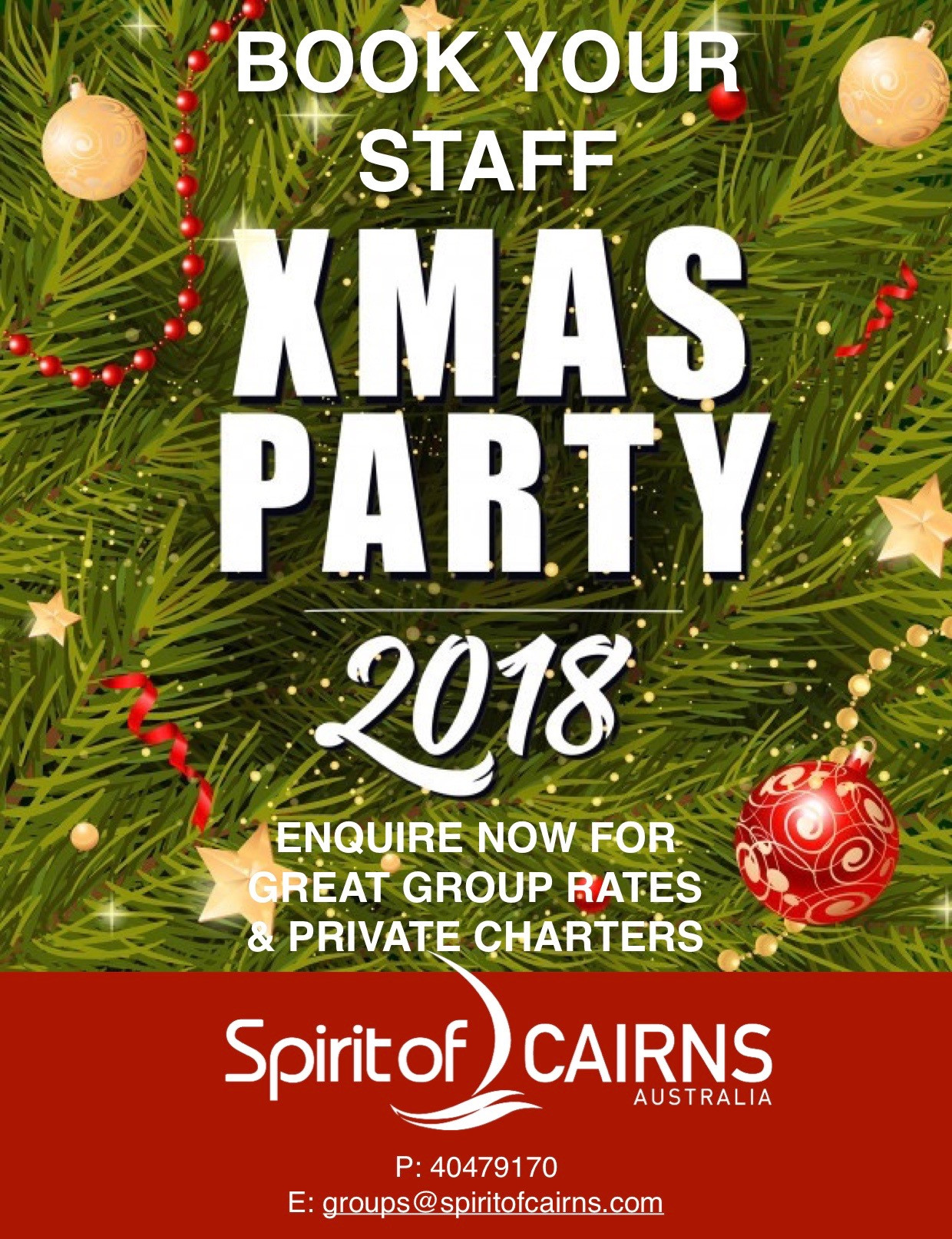Staff Christmas Party Ideas  Spirit of Cairns Dinner Cruise