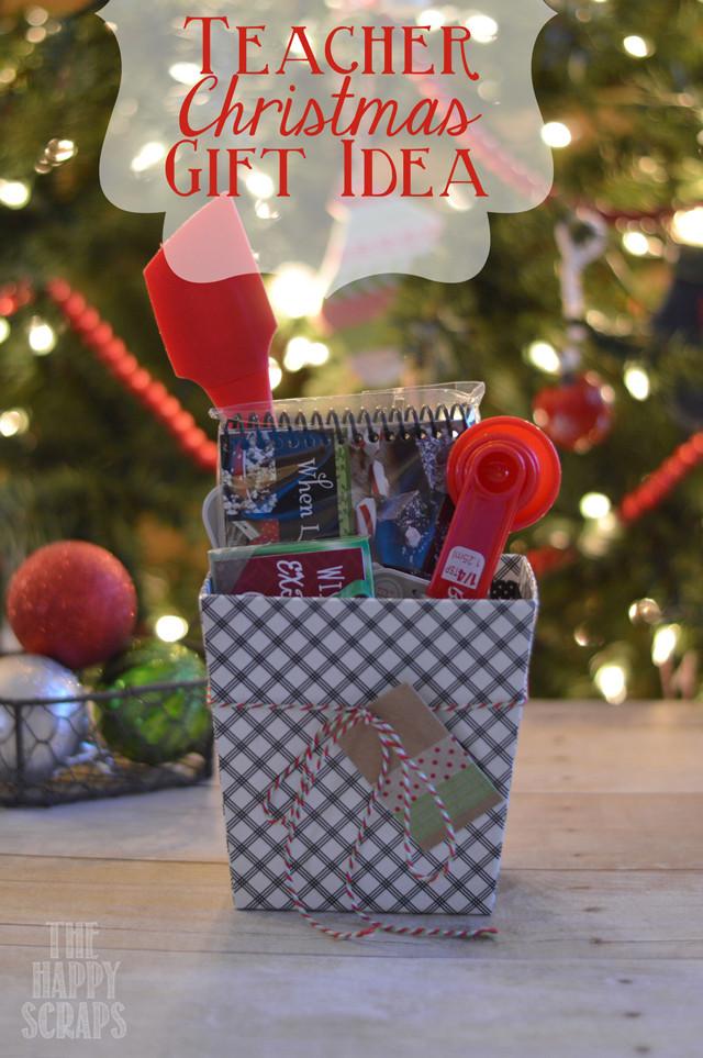 Teacher Christmas Gift Ideas  Teacher Christmas Gift Idea The Happy Scraps