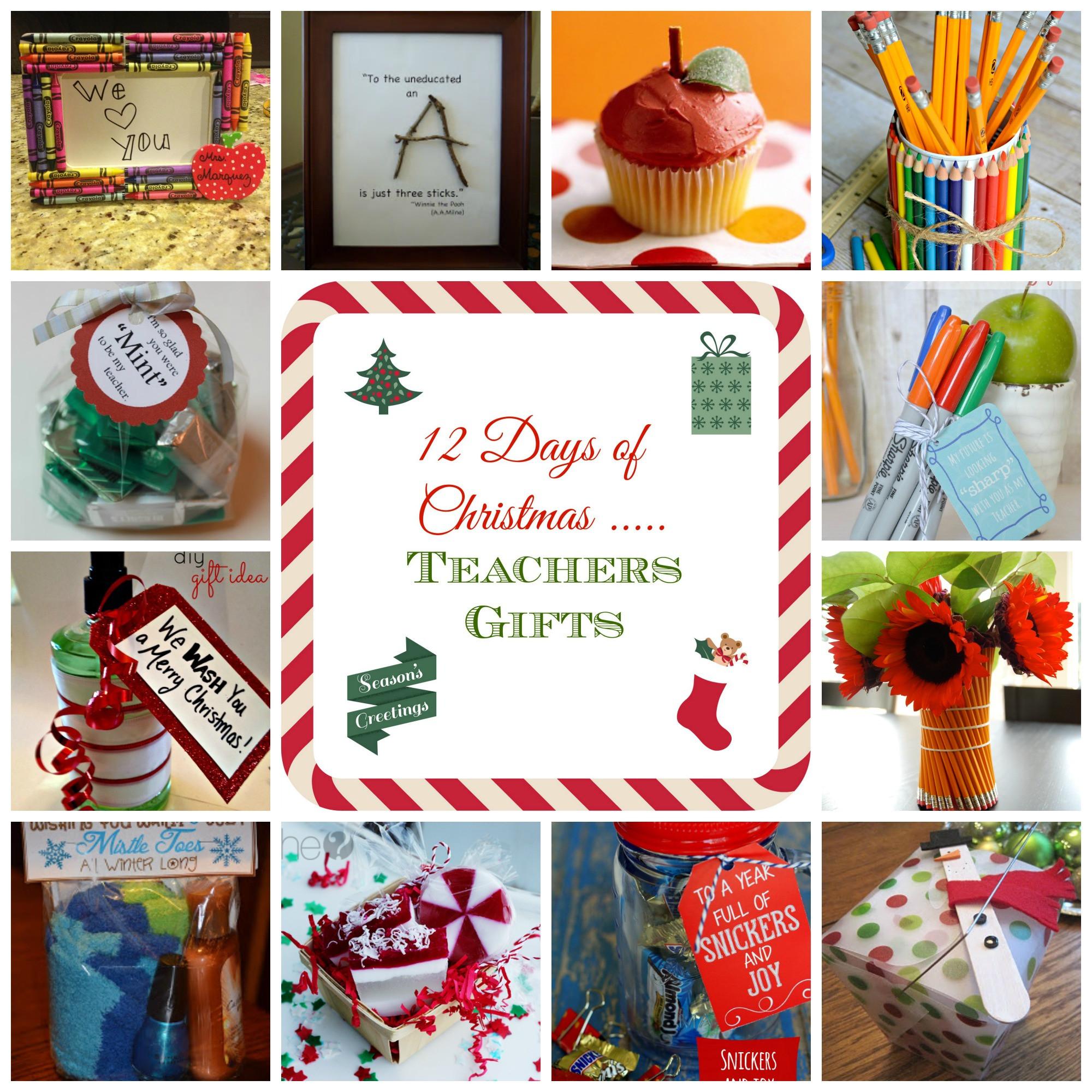 Teacher Christmas Gift Ideas  12 Days of Christmas Teacher Gift Ideas donnahup