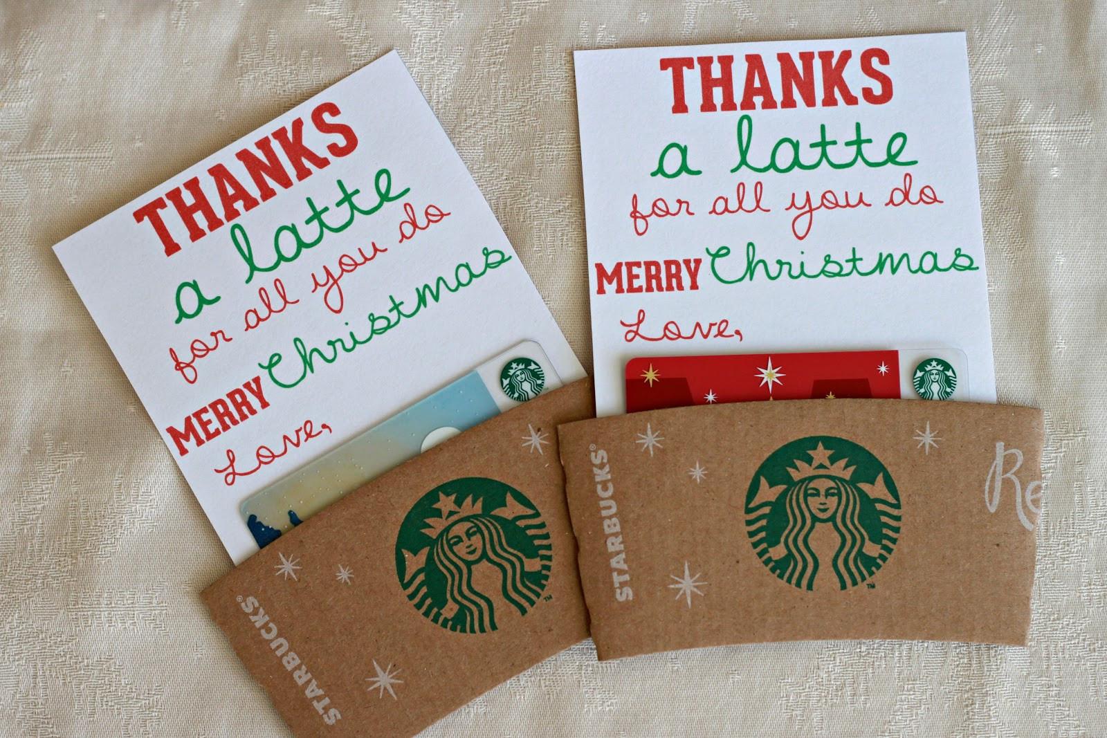 Teacher Christmas Gift Ideas  Man Starkey thanks a latte