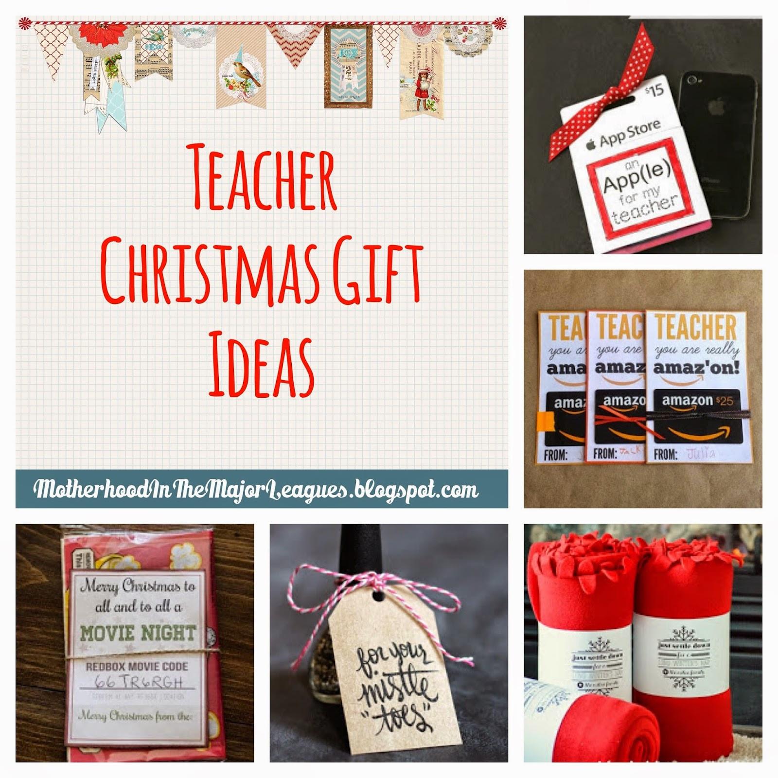 Teacher Christmas Gift Ideas  Motherhood in the Major Leagues Teacher Christmas Gift Ideas