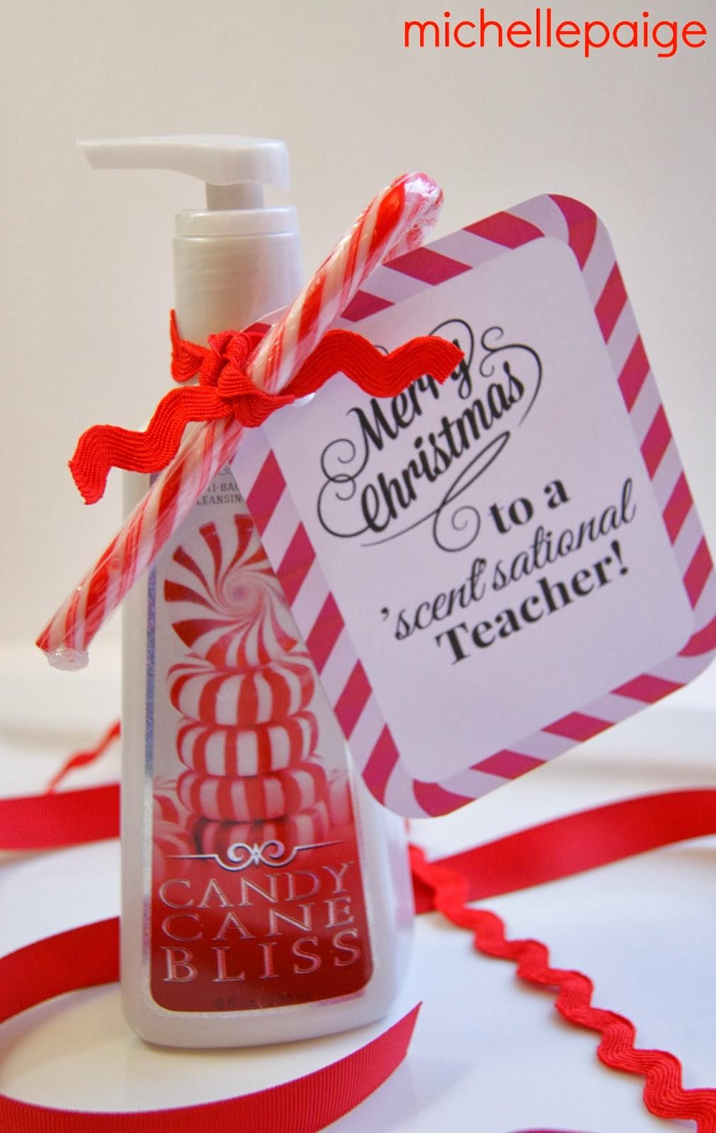 Teacher Christmas Gift Ideas  michelle paige blogs Quick Teacher Soap Gift for Christmas