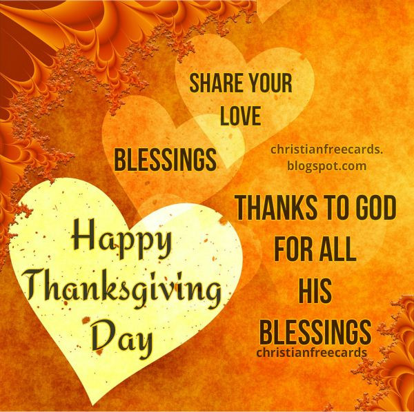 Thanksgiving Christian Quotes  Happy Thanksgiving Day 2017 Christian Card Thanks to God